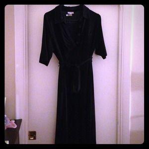 Black maternity shirt dress