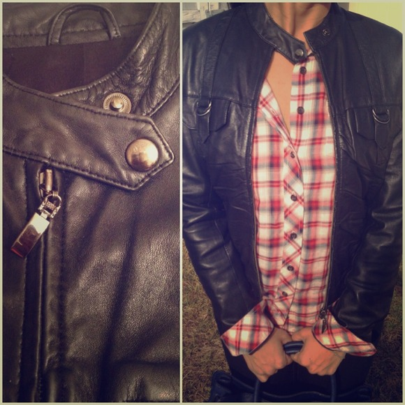 Jackets & Blazers - Cropped pin tucked front Leather jacket