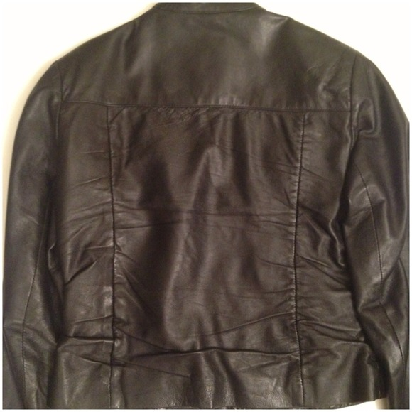 Jackets & Blazers - Cropped pin tucked front Leather jacket 3