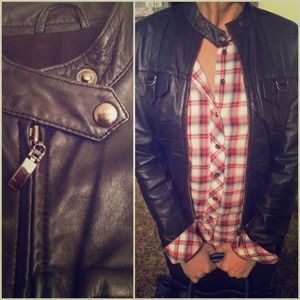 Jackets & Coats - Cropped pin tucked front Leather jacket 1