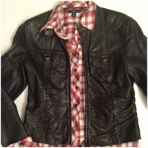 Jackets & Coats - Cropped pin tucked front Leather jacket 2