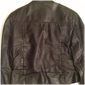 Jackets & Coats - Cropped pin tucked front Leather jacket 3