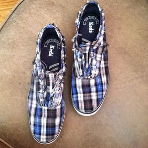 Shoes - Ralph Lauren Print shoe stringless Keds!! Size 7!