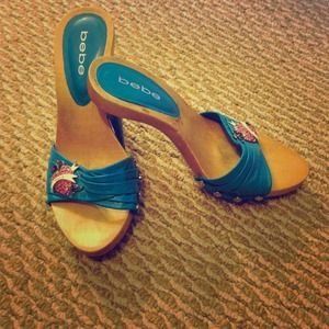 bebe Shoes - 💯% Authentic Bebe Turquoise Heels