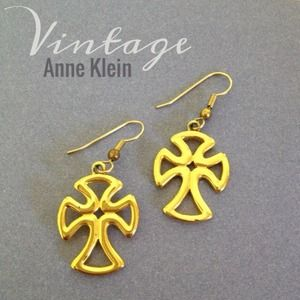 Vintage Anne Klein cross earrings