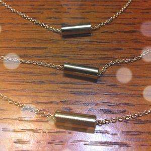 1 Individual gold bar layering necklace