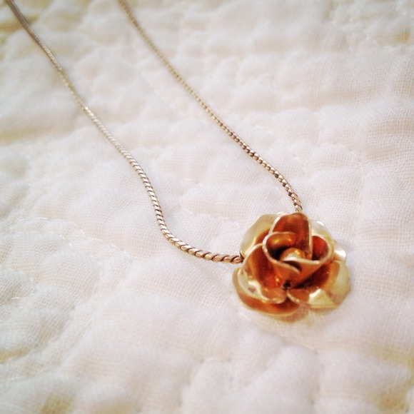 Avon Jewelry Vintage 14k Goldfilled Rose Necklace Poshmark