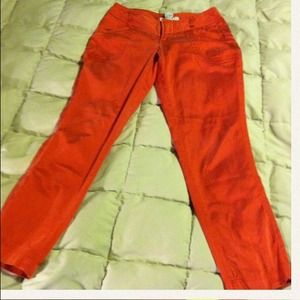 Pants - Red silk Armani pants size 0