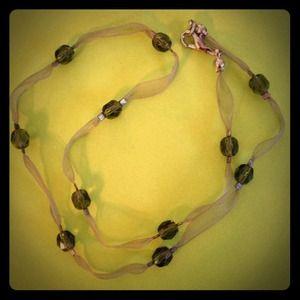 Jewelry - Green Silk Organza Ribbon Choker