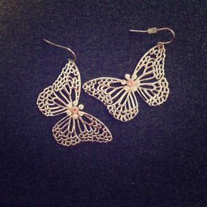 Forever 21 Jewelry - Butterfly earrings