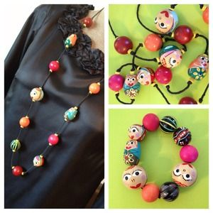 Jewelry - Matryoshka Hand Painted Jewelry Set