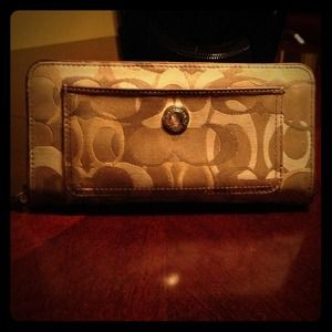 Coach large beige wallet