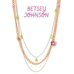 Betsey Johnson 14k gold plated Flower Girl Chain