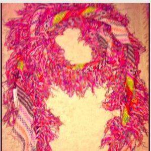 Free people rainbow frill scarf