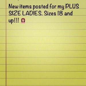 Other - New plus size items posted
