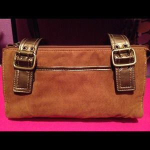 Nice brown suede Relic purse with nice bronze trim
