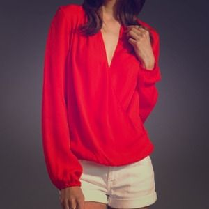Tops - Surplice wrap blouse