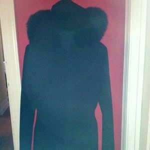 Jackets & Blazers - ⚡Sale⚡ pea coat with soft fur hood
