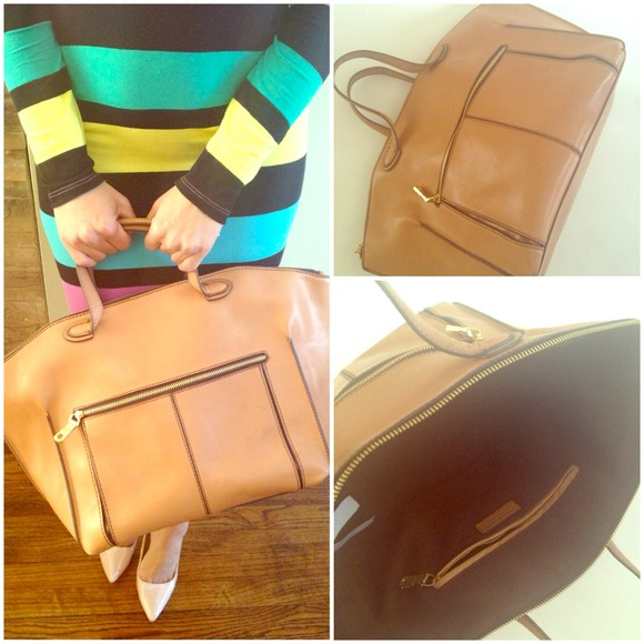 Zara Handbags - Large leather tote! Price negotiable !