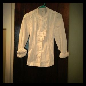 Size 0 Banana Republic ruffles blouse