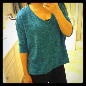 Slouchy hi-lo sweater