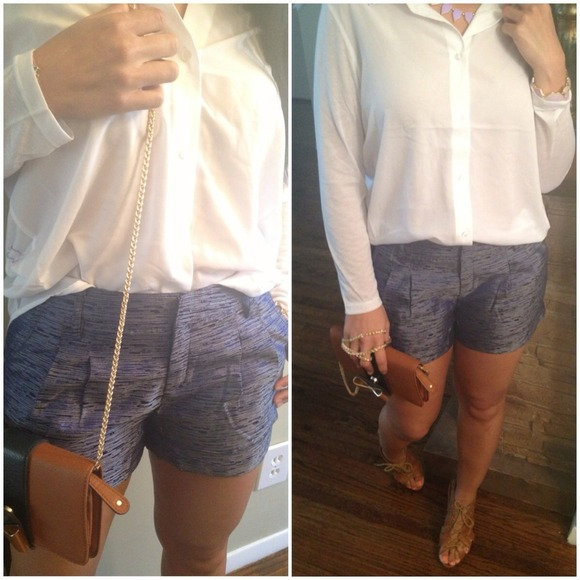 Other - ✅⛔Sold in bundle Sheen lurex denim shorts lurex
