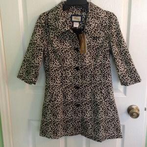 Leopard Cheetah Print Half Sleeve Rain Jacket