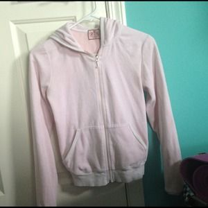 Pink Juicy Couture Velour Zip Hoodie