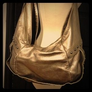 Kenneth Cole Handbags - Kenneth Cole Gold Leather