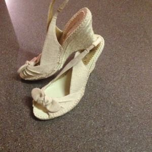 Shoedazzle canvas espadrilles.