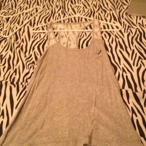 Aeropostale Tops - ✋TRADED✋ Grey and lace tank. 🎀