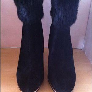 "BCBG Max Azria Fur Trim ""Nimber"" Bootie"