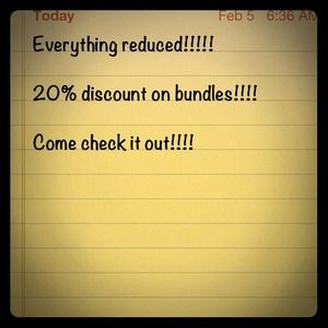Everything reduced!!