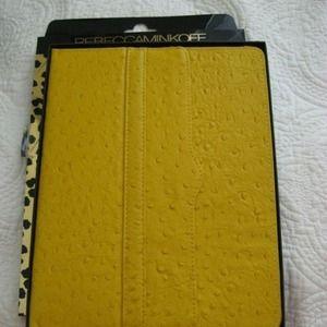 Rebecca Minkoff yellow ostrich iPad easel case