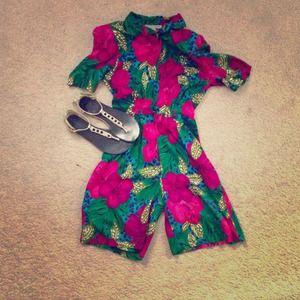 Pants - Vintage floral romper!!!!
