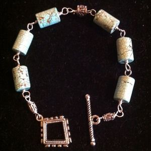 Authentic turquoise and silver bracelet