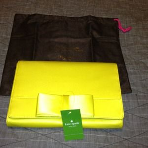 Kate Spade Yellow Bow Clutch REDUCED