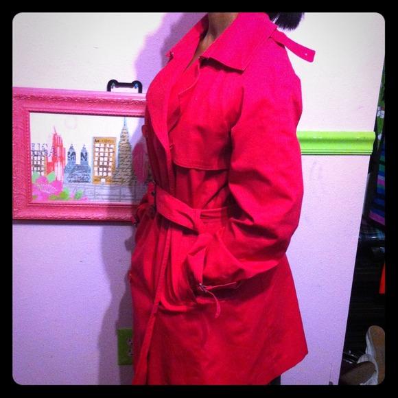 unequal in performance various styles men/man London Fog Bright Pink 3/4 Raincoat