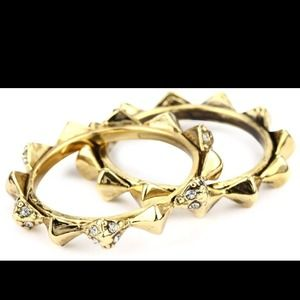 House of Harlow 1960 Jewelry - House of Harlow Gold Spiked Rings - Size 7