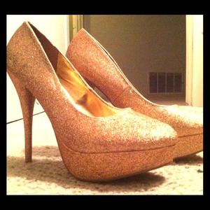 Gold Glam Party Heels