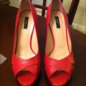 Bally red pumps