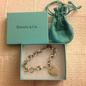Tiffany & Co. Sterling Silver Heart Tag Bracelet