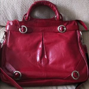 Handbags - 2 strap satchel red leather bag. W/ longer straps