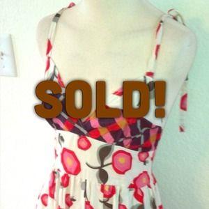 Sz M / L colorful flower geometric sun dress