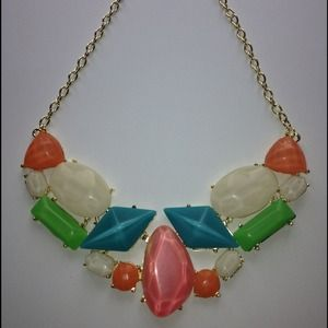 Multi color statement necklace make an OFFER