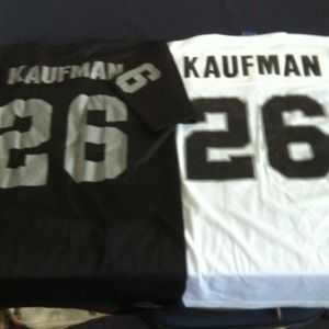 Tops - Gray&black and white&black Kaufman jerseys