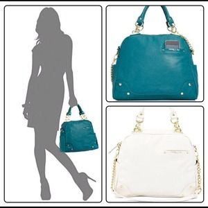 Olivia and Joy Handbags - Olivia + Joy Dynamo bowler satchel - teal or white