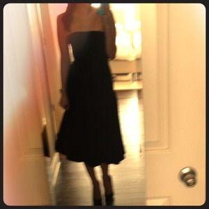 Vera Wang black tea length dress