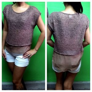 Tops - ✨SOLD✨ Sweater and Chiffon Top