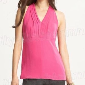 Banana Republic vibrant pink blouse